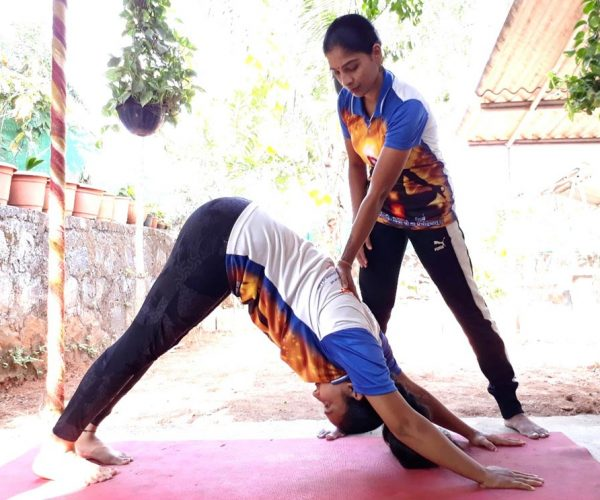 yoga at home training